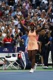 США раскрывают 2017 чемпиона Sloane Stephens Соединенных Штатов празднует победу после ее финального матча против ключей Madison Стоковое Изображение RF
