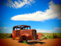 США, старый, ржавые, Форд, трасса, 66, Аризона, Невада стоковые фотографии rf
