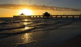 США, Флорида, пляж Fort Myers Стоковая Фотография RF