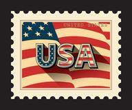 США, штемпель почтового сбора Иллюстрация штока