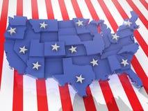 США 3D иллюстрация вектора