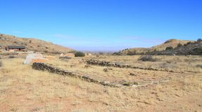 США, AZ: Старый запад - руины форта Bowie/школы стоковое изображение rf