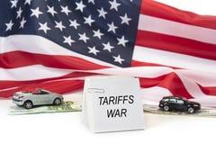 США EC и война тарифов Китая Гонорары и рабочий конфликт импорта стоковая фотография