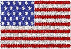 США flag и доллар Стоковое фото RF
