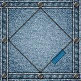 Сшитая предпосылка джинсовой ткани Стоковое Изображение