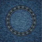Сшитая предпосылка джинсовой ткани Стоковые Изображения RF