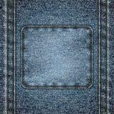 Сшитая предпосылка джинсовой ткани Стоковая Фотография