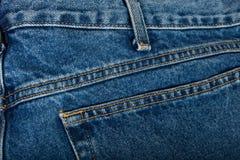 сшитые голубые джинсы Стоковая Фотография RF