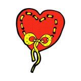 сшитый шарж сердца шуточный Стоковые Фото