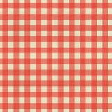 Сшитый checkered дизайн текстуры ткани с красным цветом Стоковые Фото