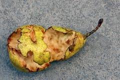 съеденная половинная груша Стоковая Фотография RF