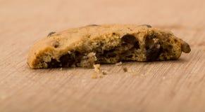 съеденное печенье шоколада обломока Стоковая Фотография