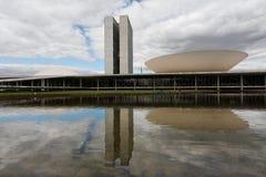 съезд здания brasilia стоковые изображения