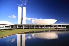 съезд столицы brasilia Бразилии стоковая фотография
