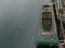 Съемка антенны Марины контейнера цемента Стоковая Фотография RF