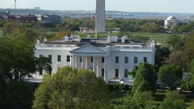 Съемка Белого Дома DC Вашингтона широкая сток-видео