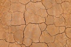 Съемка взгляд сверху треснутой почвы Стоковое Изображение