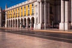 Съемка долгой выдержки Коммерция квадратное Praca делает Comercio в Lis стоковая фотография rf