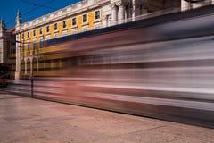 Съемка долгой выдержки Коммерция квадратное Praca делает Comercio в Lis Стоковая Фотография