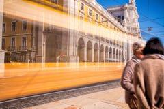 Съемка долгой выдержки Коммерция квадратное Praca делает Comercio стоковое фото rf