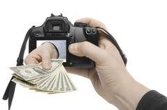 съемка доллара стоковая фотография rf