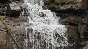 Съемка замедленного движения подачи/водопада реки сток-видео