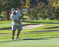съемка игрока в гольф обломока стоковое фото