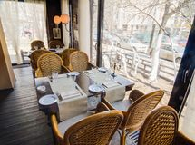 Съемка интерьера ресторана Стоковое Фото