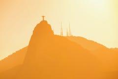 Съемка конспекта статуи спасителя Христоса Стоковое Изображение RF