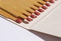 Съемка крупного плана спичечного коробка Стоковые Фото