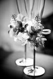 Съемка крупного плана украшенных wedding стекел Стоковые Фотографии RF