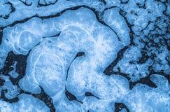 Съемка крупного плана льда Стоковые Изображения