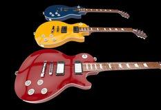 Съемка крупного плана электрических гитар Стоковое фото RF