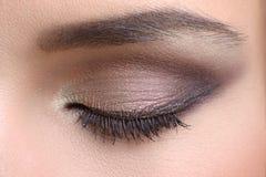 Съемка макроса глаза женщины Стоковые Фотографии RF