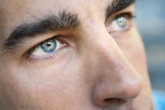 Съемка макроса глаза ` s человека стоковое изображение