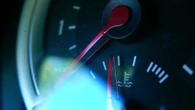 Съемка макроса индикатора температуры двигателя автомобиля Стоковые Фото