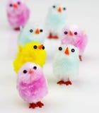 съемка макроса пасхи цыпленоков пушистая стоковая фотография