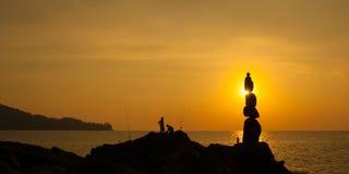 Съемка моря захода солнца стоковая фотография