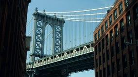 Съемка моста Манхаттана иконическая сток-видео