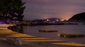 Съемка ночи берега Стоковое фото RF