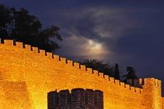 съемка ночи крепости средневековая Стоковое Фото