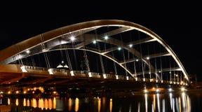 Съемка ночи моста стоковые фотографии rf
