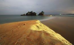 Съемка ночи пляжа Kemasik Стоковое фото RF