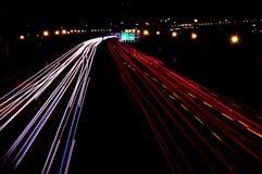Съемка ночи шоссе Стоковое Фото