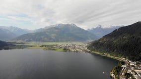 Съемка озера воздушная сток-видео