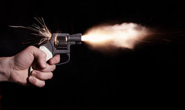 съемка пистолета Стоковое Изображение