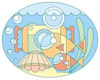 съемка подводная Стоковые Изображения RF