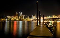 Съемка Портленд Орегон ночи Стоковое Изображение RF