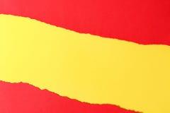 съемка предпосылки близкая бумажная вверх Желтый цвет и красный цвет Стоковое фото RF