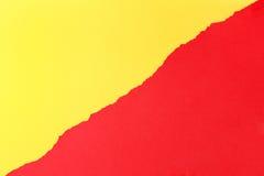 съемка предпосылки близкая бумажная вверх Желтый цвет и красный цвет Стоковые Изображения